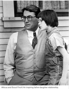 Sticks and Scout Finch in To Kill a Mockingbird