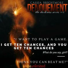 ★★★ #FREE with #KindleUnlimited!★★★  The magnetic pull she felt towards him was intoxicating. This man was a threat, he had the ability to affect her, to strip away her carefully built walls and leave her raw and exposed—completely at his mercy.  ★ ☆ ★ ☆ #NewRelease ★ ☆ ★ ☆  DENOUEMENT (The Darkness Series #3) by Cassia Brightmore  Have you picked up your copy of Denouement - the #epic conclusion to the Darkness Series yet? #Oneclick your copy now for free in KU!  Amazon US…