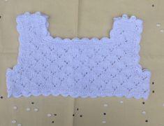 New Ideas crochet top kids dress tutorials Girls Knitted Dress, Crochet Summer Dresses, Knit Baby Dress, Crochet Girls, Crochet For Kids, Crochet Baby, Diy Crochet Cardigan, Crochet Scarf Easy, Crochet Yoke