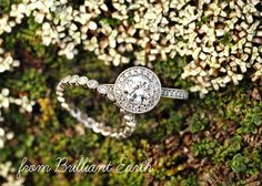 Brilliant Earth rings...for the environmentally conscious bride! LOVE that wedding band!