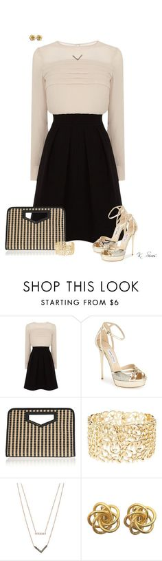 """Get dolled up and go out"" by ksims-1 ❤ liked on Polyvore featuring Karen Millen, Jimmy Choo, Marc by Marc Jacobs, Charlotte Russe and Michael Kors"