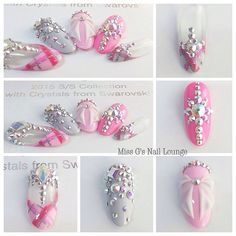 """""""2015 SWA Swarovski Crystal Collection. Gellyfit Nail Art Competition Our Final Entry is Electra Melissa @missgsnaillounge . Her Theme is """" Shine Bright…"""""""