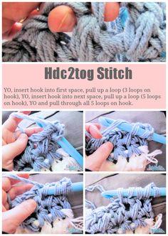 Hdc2tog Crochet Stitch Tutorial #free #easy #afghan #crochet #pattern
