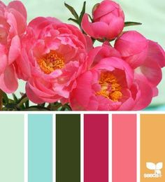 get your hue on! color palette inspiration for weddings, craft and design inspiration #pink #green