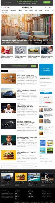 HappyThemes Revolution : Premium Magazine WordPress Theme http://www.wordpressthemereviewdesk.com/happythemes-revolution/ #WordPress