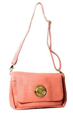 Love coral cross body purse