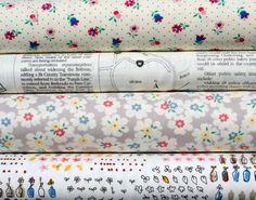 Bundle of four Japanese cotton fat quarters by PolkaDotTeaFabrics, $25.00