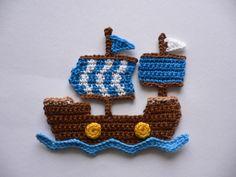 Piratenschiff+-+Häkelapplikation+von+Spielkiste+auf+DaWanda.com