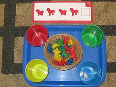 Farm Theme Tot Trays from The Preschool Experiment