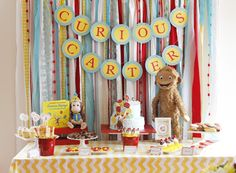 Curious George Dessert Table - #kidsparty #desserttable