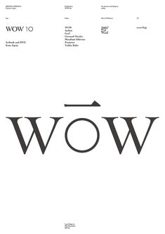 WOW 10:   artbook+DVD  http://www.wow10.jp/   art direction and design   by artless
