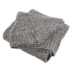 Adina Melange Knit Throw Charcoal