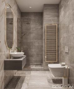 marble, concrete, white, black and natural textures. Floating vanity and double sink bathroom master bathroom layout. Modern Classic Bathrooms, Small Grey Bathrooms, Modern Classic Interior, Dream Bathrooms, Modern Classic Bedroom, Master Bathrooms, Washroom Design, Toilet Design, Bathroom Design Luxury