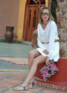 White dress at Morocco – Rally Solidario #kissmylook