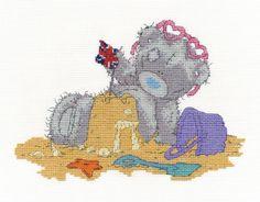 Tatty Teddy On Holiday Cross Stitch Kit - £15.00 on Past Impressions | by DMC