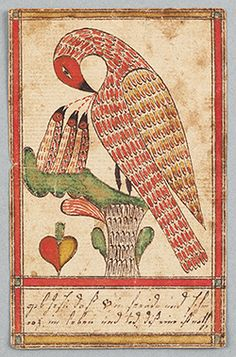 Pennsylvania Fraktur Bookmark $35,000 | treasure a modern version of this by Jaeri Eastwood..