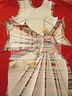 Patrones de Costura: CÓMO TRAZAR UN CUERPO DRAPEADO CON NUDO Vogue Sewing Patterns, Easy Sewing Patterns, Doll Clothes Patterns, Clothing Patterns, Knot Dress, Diy Dress, Drape Dress Pattern, Sewing Blouses, Couture Sewing