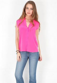 Mason By Michelle Mason Sleeveless Blouse in Pink/Ivory