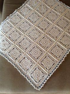 Best 12 Ravelry: Project Gallery for Willow pattern by Jan Eaton Crochet Bedspread Pattern, Crochet Quilt, Crochet Blocks, Granny Square Crochet Pattern, Crochet Squares, Crochet Granny, Crochet Blanket Patterns, Crochet Motif, Crochet Doilies