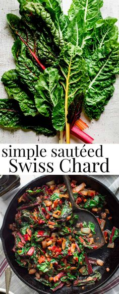 Here's is the most simple way to cook Swiss Chard. In this vegan recipe you'll learn how to prepare the leaves and stems for a simple side dish, plus I'm sharing some of the health benefits of chard. Rainbow Chard Recipes, Veggie Recipes, Vegetarian Recipes, Snack Recipes, Cooking Recipes, Vegan Vegetarian, Simple Vegetable Recipes, Rainbow Swiss Chard Recipe, Gourmet