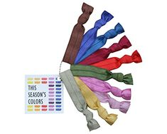 This Seasons Colors No Crease Hair Ties Fall  Winter Colors Set of 10 with Reusable Chain 10 Hair Ties 1 of Each Color FallWinter 2015 >>> Click image to review more details.Note:It is affiliate link to Amazon.