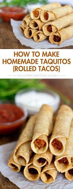 How to Make Homemade Taquitos