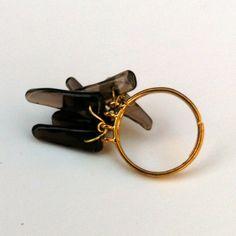 Wire Wrap Ring in Deep Purple Amethyst Dagger by WirequeenJewelry, $13.00