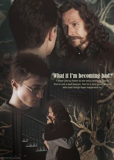 Sirius Black (Gary Oldman) offers Harry Potter (Daniel Radcliffe) words of kindness and wisdom. Saga Harry Potter, Mundo Harry Potter, Theme Harry Potter, Harry Potter Facts, Harry Potter Quotes, Harry Potter Love, Harry Potter Characters, Harry Potter Universal, Harry Potter World