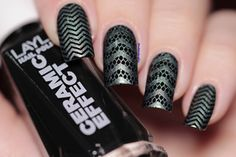 BORN PRETTY Lace Chevron Nail Art Stamping Plates Nails Stamp Template Vines Image Plate  BP-L028 12.5 x 6.5cm # 21814