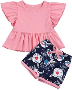 Toddler Baby Girls Summer Clothes Floral Hoodie Print Sweatshirt Tops Flower Pants Outfit Set Twins Clothes Cheap Baby Clothes, Summer Clothes, Twin Outfits, Toddler Outfits, Ruffle Shirt, Printed Sweatshirts, Pants Outfit, Baby Girls, Floral Tops
