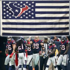 Houston Texans Stars and Stripes Flag