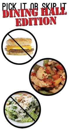 Infographic surviving the college dining hall college hall and pick it or skip it dining hall edition ccuart Gallery