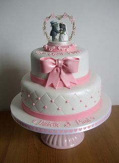 Daneille and Pauls Wedding cake by trulycrumbtious, via Flickr