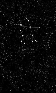 Gemini Zodiac Constellation Framed Art Print
