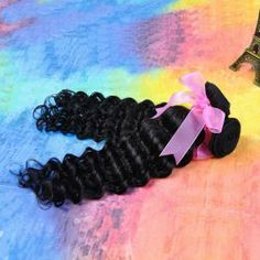 $67.92 28 Inches Stylish Human Hair Black Long Wavy Hair Extension For Women
