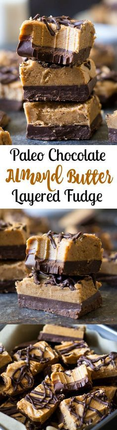 Its possible to make healthy fudge that still tastes as good as the original! This Paleo Almond Butter Chocolate Fudge is my familys favorite and we know youll love it too. Its refined sugar free gluten free dairy free and absolutely delicious! Dessert Sans Gluten, Paleo Dessert, Gluten Free Desserts, Healthy Desserts, Dessert Recipes, Paleo Chocolate, Chocolate Fudge, Chocolate Chips, Baking Chocolate