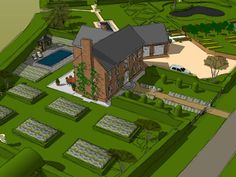 Designs | Projects | Richard Miers - Garden Design Baseball Field, Designs To Draw, Design Projects, Garden Design, Golf Courses, Country, Drawings, Rural Area, Sketches