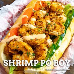 This easy Cajun Po' Boy sandwich is healthier than fried to make it a great weeknight dinner for the family. Spice it up with a homemade Remoulade sauce. #spicyfood #creole Spicy Chicken Recipes, Cajun Recipes, Seafood Recipes, Mexican Food Recipes, Italian Recipes, Cooking Recipes, Side Dish Recipes, Lunch Recipes, Po Boy Sandwich
