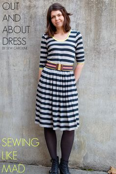 Sewing Like Mad  The Out and About Dress by Sew Caroline.
