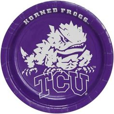 Texas Christian Horned Frogs (TCU) 8-Pack Paper Plates $3.95