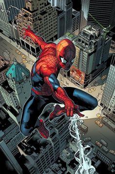 Spiderman Comic Books, Spiderman Art, Marvel Comic Universe, Marvel Comics Art, Amazing Spiderman, Comic Book Artists, Comic Books Art, Comic Art, Hq Star Wars