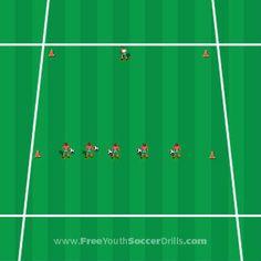 Soccer practice - a fun U4 drill called sleeping bear!