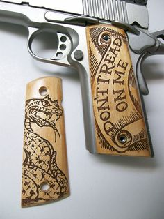 1911 grips Maple Dont Tread on Me by DKWoodCreations on Etsy