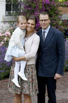 Princess Estelle of Sweden; Crown Princess Victoria of Sweden and Prince Daniel of Sweden attend the 38th Birthday celebrations of Crown Princess Victoria of Sweden on July 14, 2015 in Oland, Sweden.