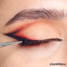Edgy Makeup, Makeup Eye Looks, Grunge Makeup, Eye Makeup Art, Skin Makeup, Makeup Inspo, Eyeshadow Makeup, Punk Makeup, Red Eyeliner