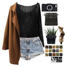 """shein"" by rarranere ❤ liked on Polyvore featuring moda, Levi's, Alöe e Aesop"