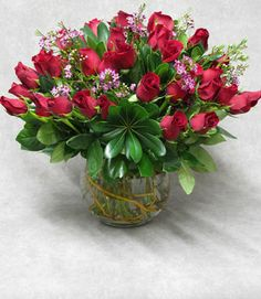 """This red #rose arrangement is called """"Romantic Paradise""""; how fitting for #ValentinesDay!"""