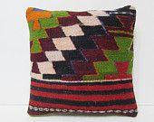 chevron decorative pillow 16x16 zig zag throw pillow colorful kilim pillow case hippie fabric floor pillow case boho chic throw pillow 23895