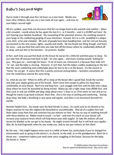 Just Breastfeed Breastfeeding Baby's Second Night - Best advice for new mommies
