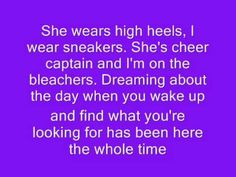Taylor Swift- You Belong With Me Lyrics (: - YouTube